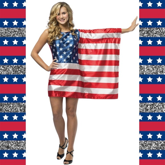 d934f33789b Rasta Imposta Teen American Flag Costume Dress🇺🇸